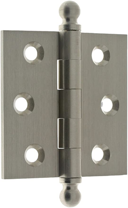 """NEW Silver Finish 3-1//2/"""" Door Hinge Steel Pins Tap-In Smooth Head"""