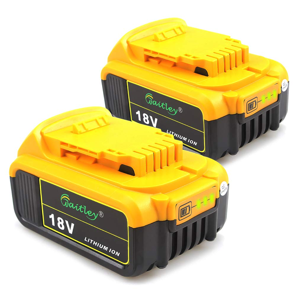 2 Pack Waitley DCB184 18V 5.0Ah Replacement Battery for Dewalt DCB200 DCB183 DCB185 DCD785 DCD795 DCF885 DCF895 DCS380 DCS391 MAX XR Lithium-Ion Battery