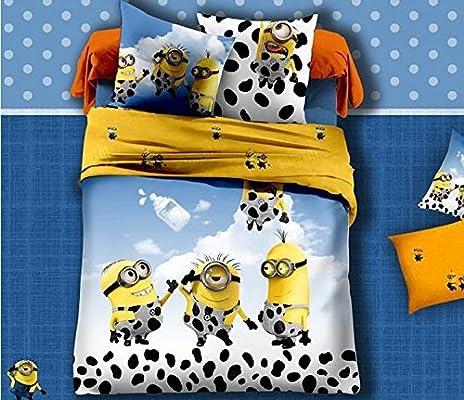 Juego de cama para cama de matrimonio de piel de vaca Minion