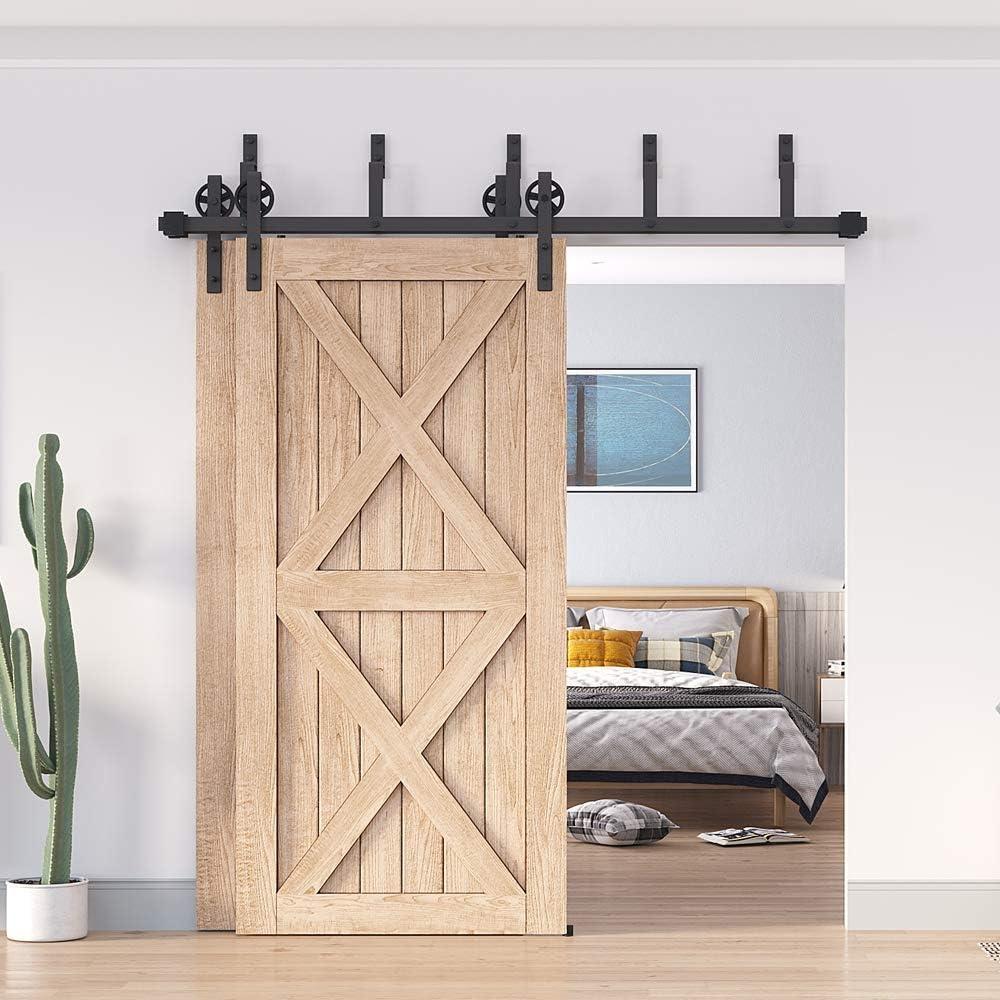HomeDeco Hardware - Soporte para puerta corredera de madera de ...