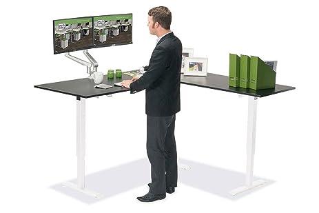 Amazoncom MultiTable Height Adjustable LShaped Corner Standing