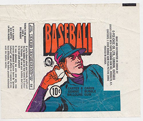 Fleer Bubble Gum (1972 O-PEE-CHEE CANADA BASEBALL CARD PACK WRAPPER BIG BUDDY BUBBLE GUM SIDE AD)