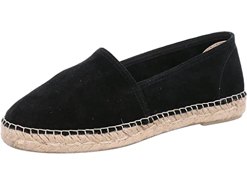 0b9e87680bec9 ESPADRIJ L ORIGINALE Womens Classic Velour Suede Leather Espadrilles Noir  Size EU 37 - UK