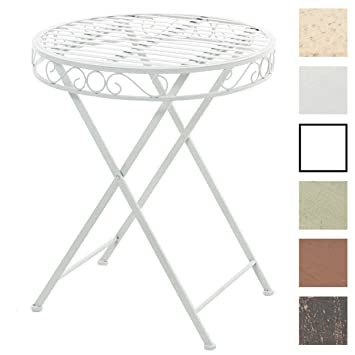 CLP Table de Jardin Ronde SULU, Table de Jardin ou de Terrasse au ...