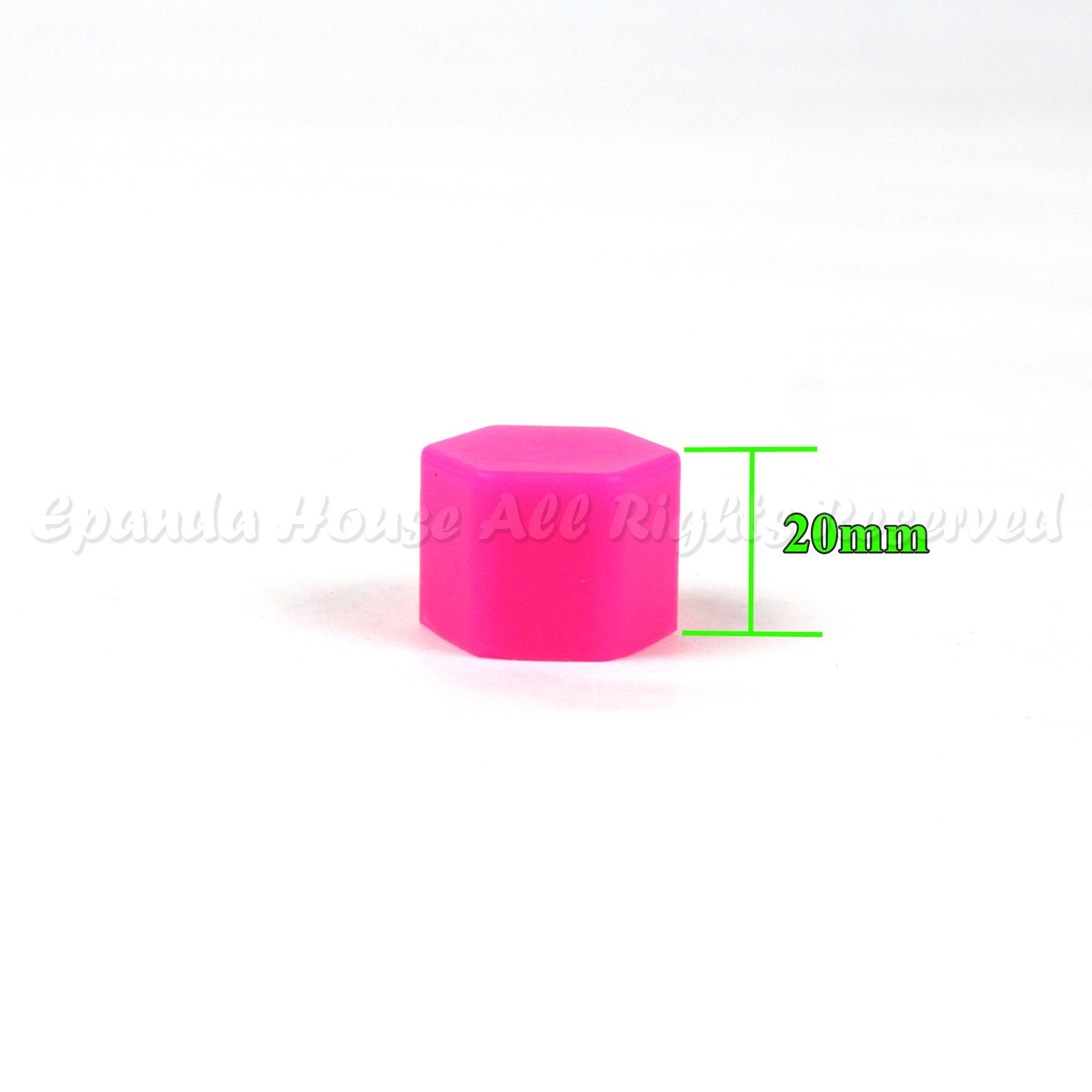 21mm 20X Glow In The Dark Blacklight Wheel Rim Lug Nuts Covers Cars/Bikes Pink by EpandaHouse (Image #4)