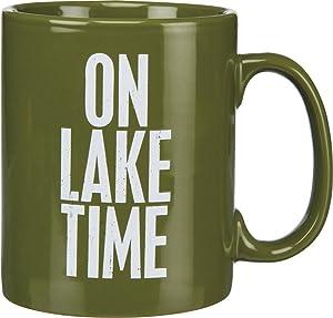 Primitives by Kathy Green Stoneware Coffee Mug, 20-Ounce, On Lake Time