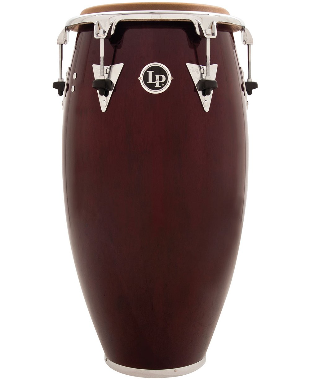 Latin Percussion LP Classic Top-Tuning 12-1/2 Tumba - Dark Wood/Chrome by Latin Percussion