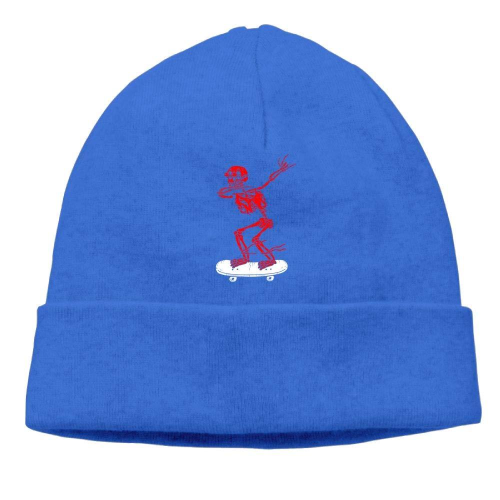 Dabbing Skeleton Red Beanies Knit Hat Ski Cap Mens