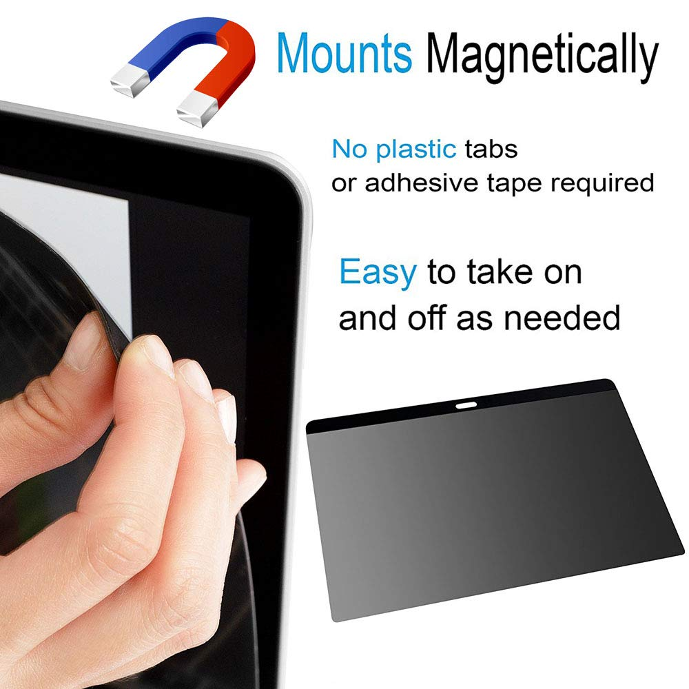 -Easy On//Off Model:A 1707//A1990 Magnetic Privacy Screen Protectors for MacBook Pro 15 with Retina