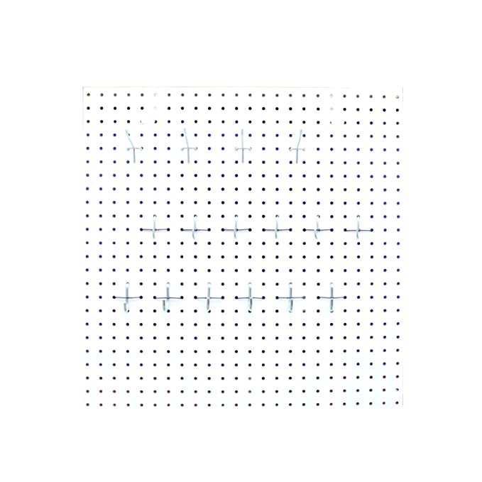 Amazon.com : Pegboard Kit for Office Cubical Wall (White, 2ft x 2ft) by Chikomac : Office Products