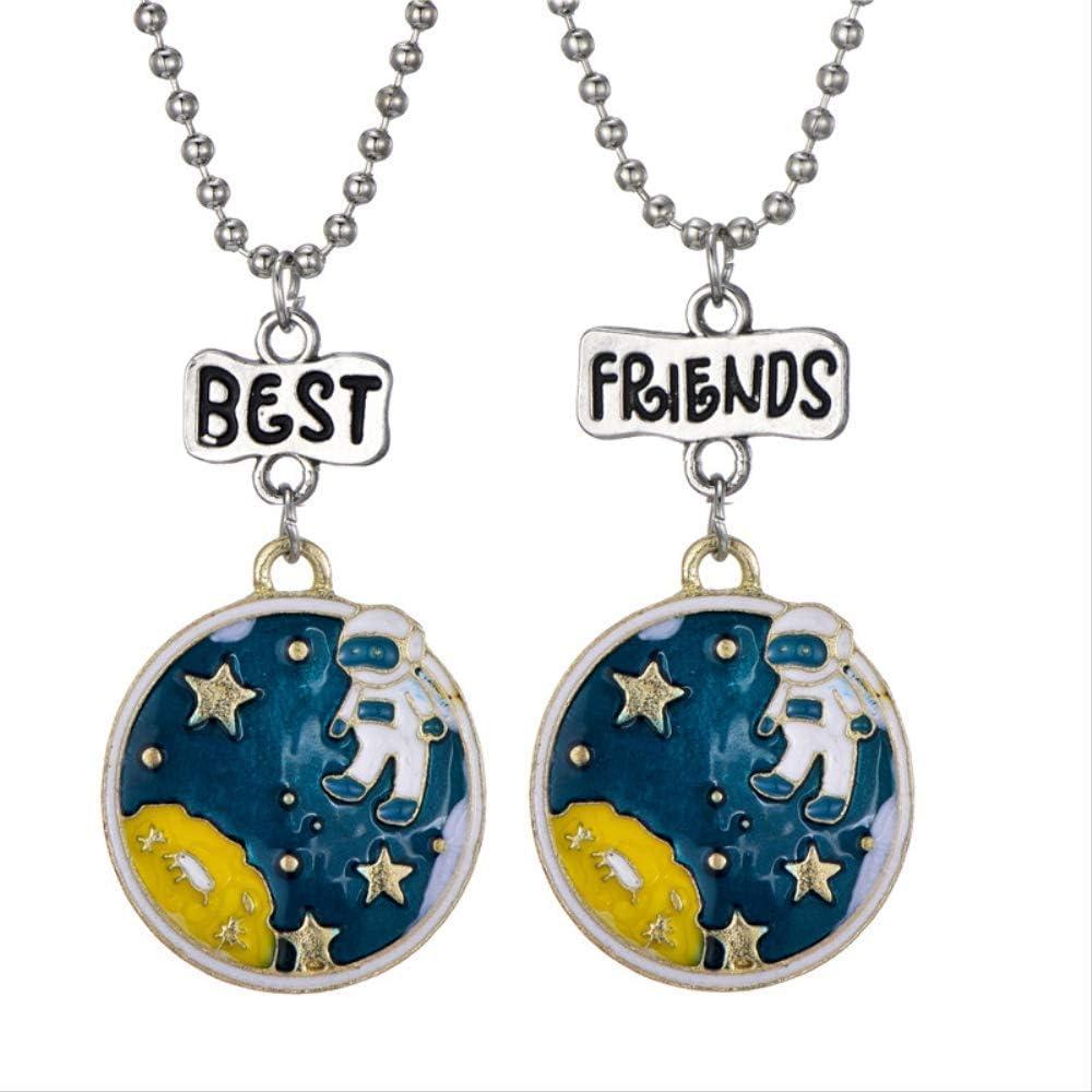 Cartoon World Map Necklace Children Space Astronaut Kids Necklaces &  Pendants Best Friendship Choker Jewelry: Amazon.ca: Jewelry