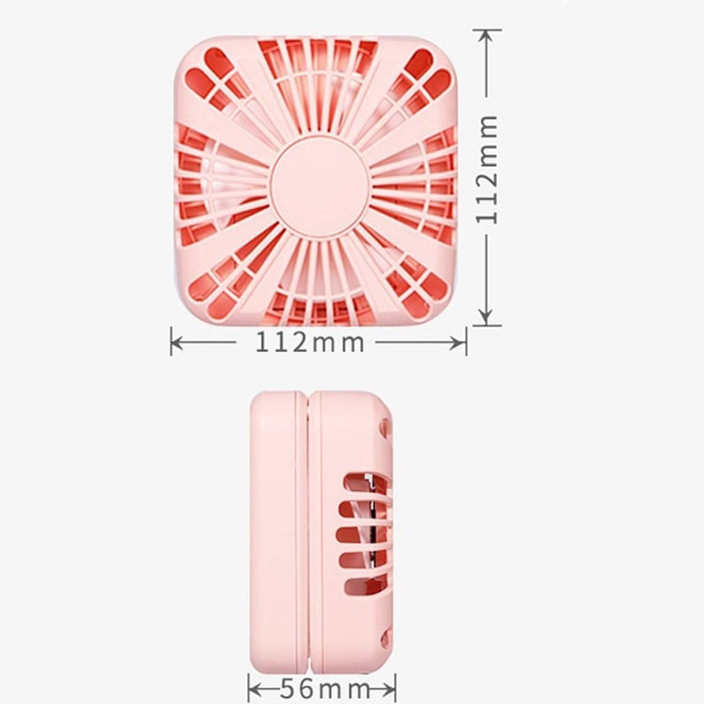 Air Cooler Desktop Mini Fan Multifunction Folding Portable Personal Fan Charging USB Electric Fan Office Table Fan Color : Pink