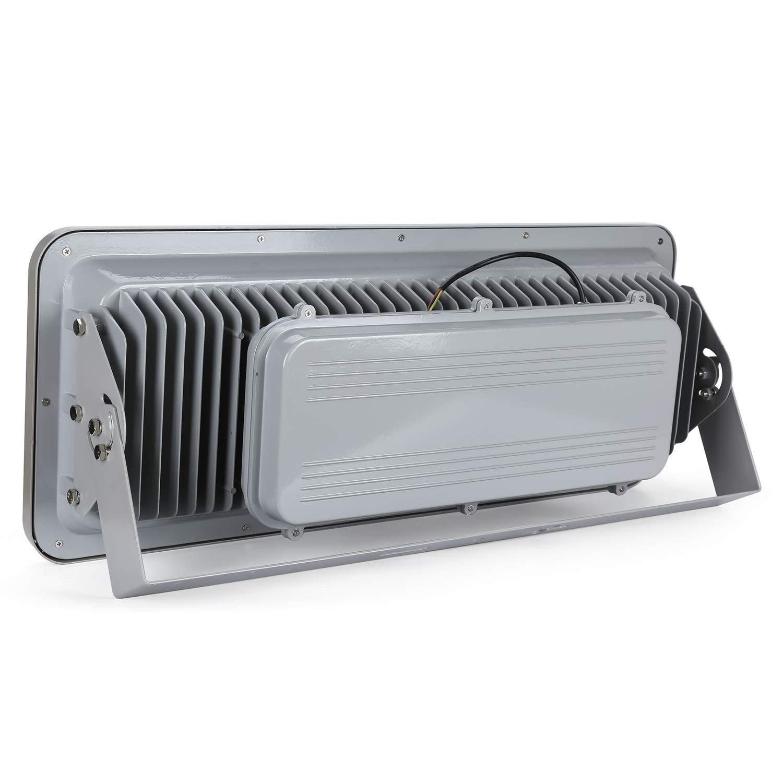 Gopretty 800W Grey LED Floodlights Spot Lamp 16pcs 50W LED Chips Ultra Bright Light 6000K Day White Parking Lot Lights