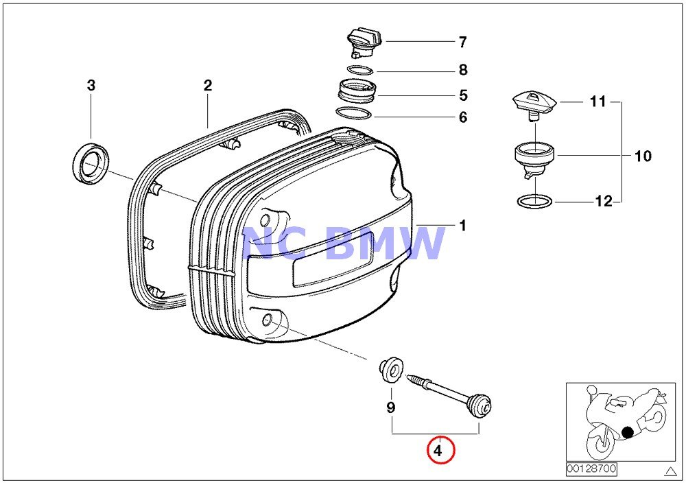 BMW Genuine Motorcycle Cylinder Head Cover// Screw CR R1100GS R1100R R850 R1100RS R1100RT R1200C R1200 Montauk R1200C Independent R1200CL R1150GS R1150RS R1150RT