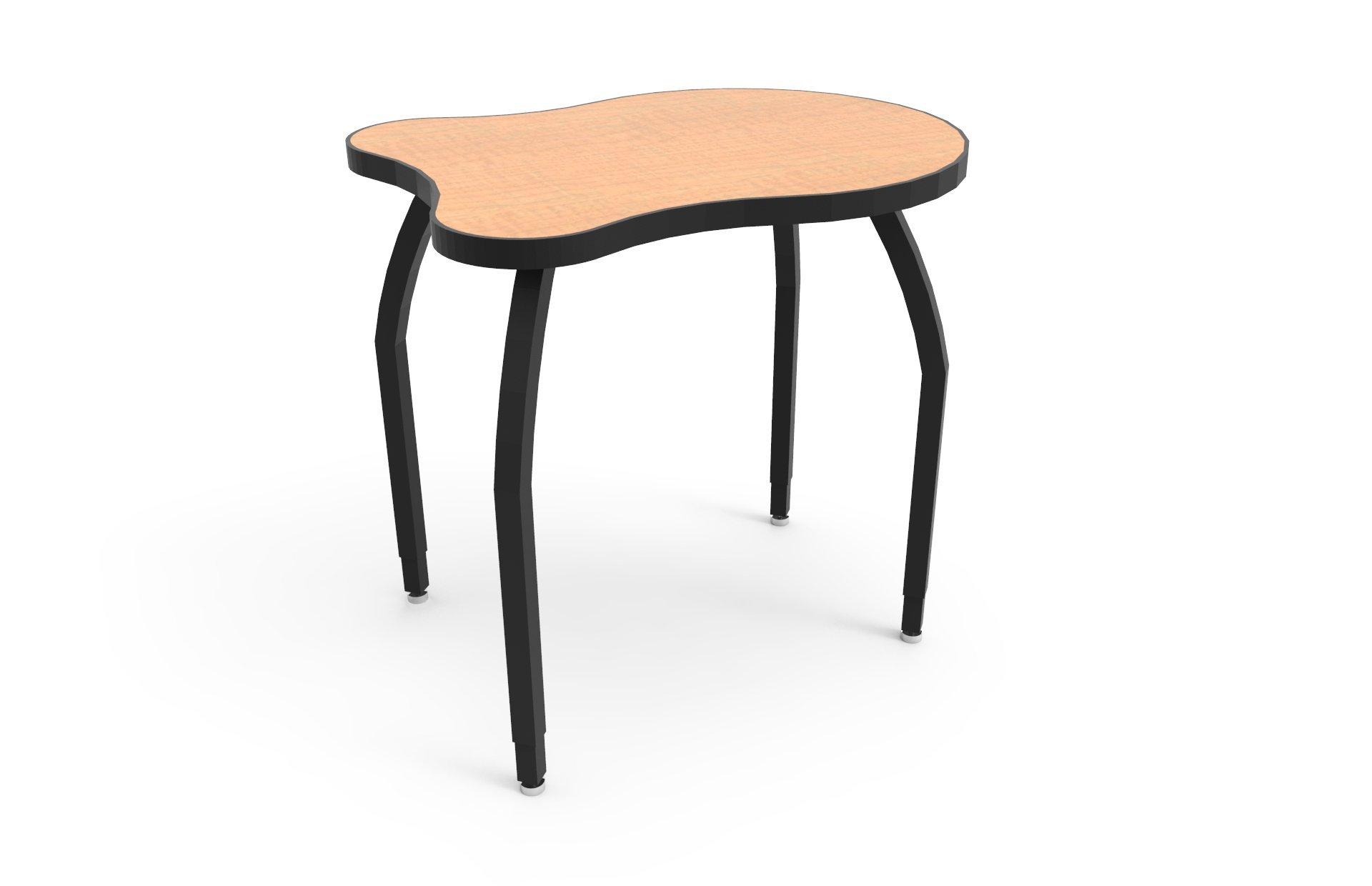 ELO Adapt desk w/ Fusion Maple laminate, 4 junior adjustable black legs
