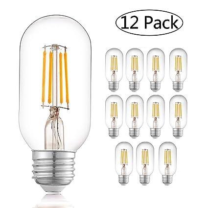 Amazon.com: TZOE - Bombillas LED Edison (4 W, T45, diseño ...