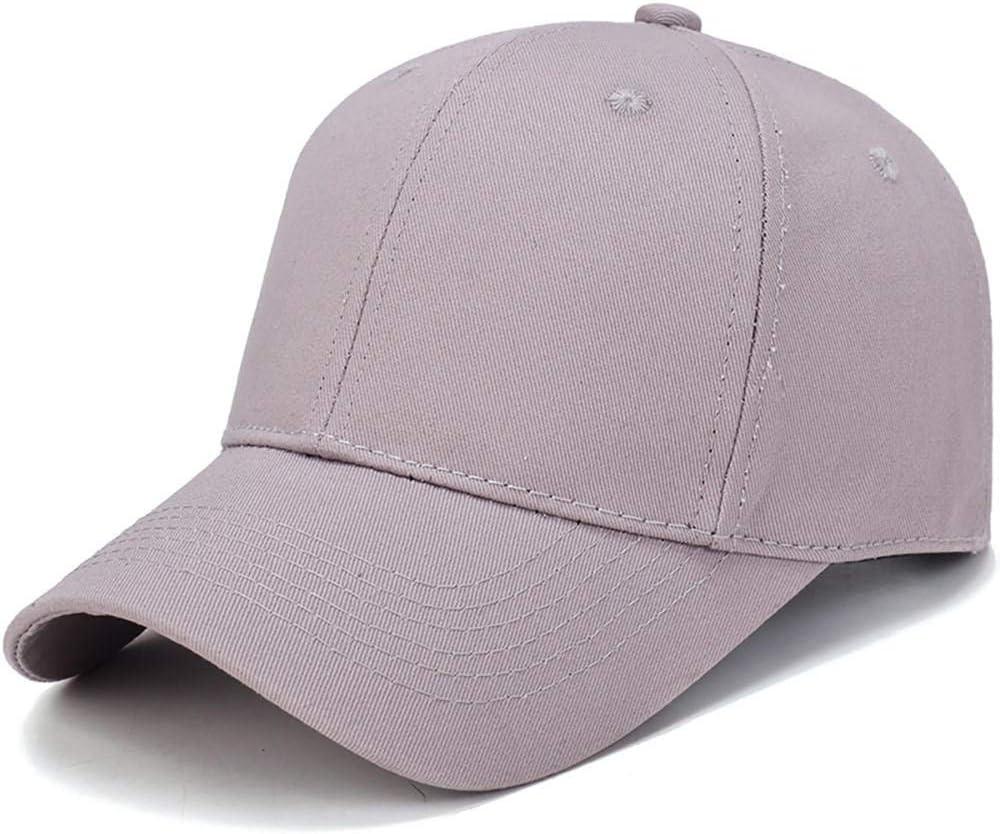 Baseball Cap Women Mencotton Light Board Solid Color Men Cap Outdoor Sun Adjustable Sports Caps in Summer@Bk/_China