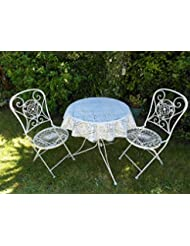 39 1 0M DIAMETER ROUND BISTRO PVC COATED LACE TABLECLOTH WHITE
