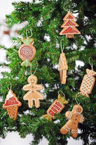 Biscotti Finti Per Albero Di Natale.Decorazione Di Natale A Forma Di Biscotti Pan Di Zenzero Gigante Soggetti Vari Amazon It Casa E Cucina