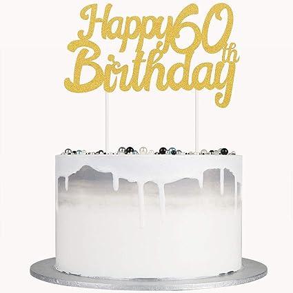 Autude - Decoración para tarta de 60 cumpleaños con ...