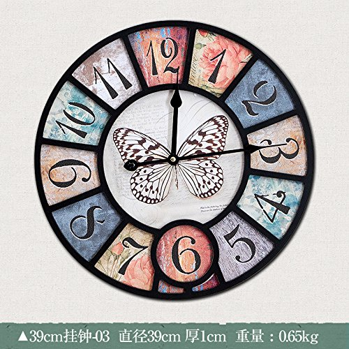 Minimalist modern muted wall clock creative arts fashion