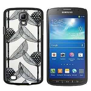 LECELL--Funda protectora / Cubierta / Piel For Samsung Galaxy S4 Active i9295 -- Arte Poder Blanco Negro --
