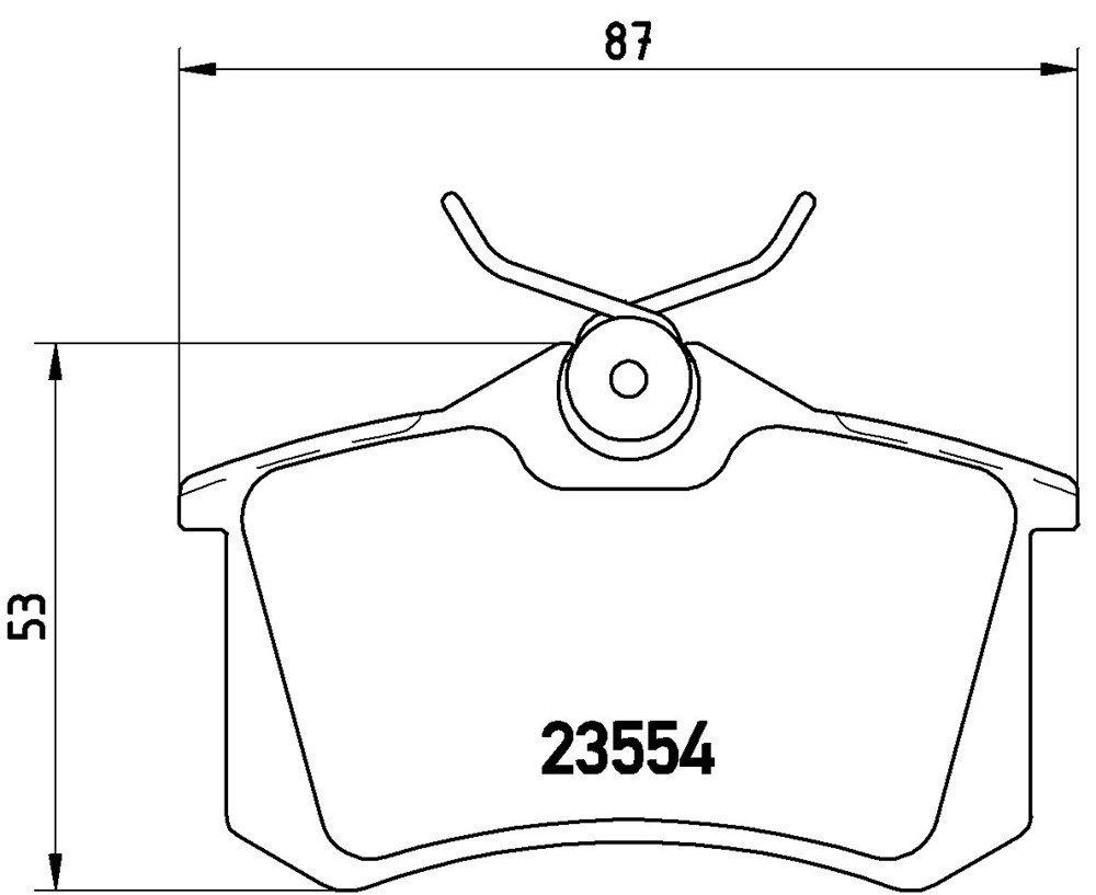 Kit Medien Bremsbel/äge hinten Brembo 08.9136.10 P85020