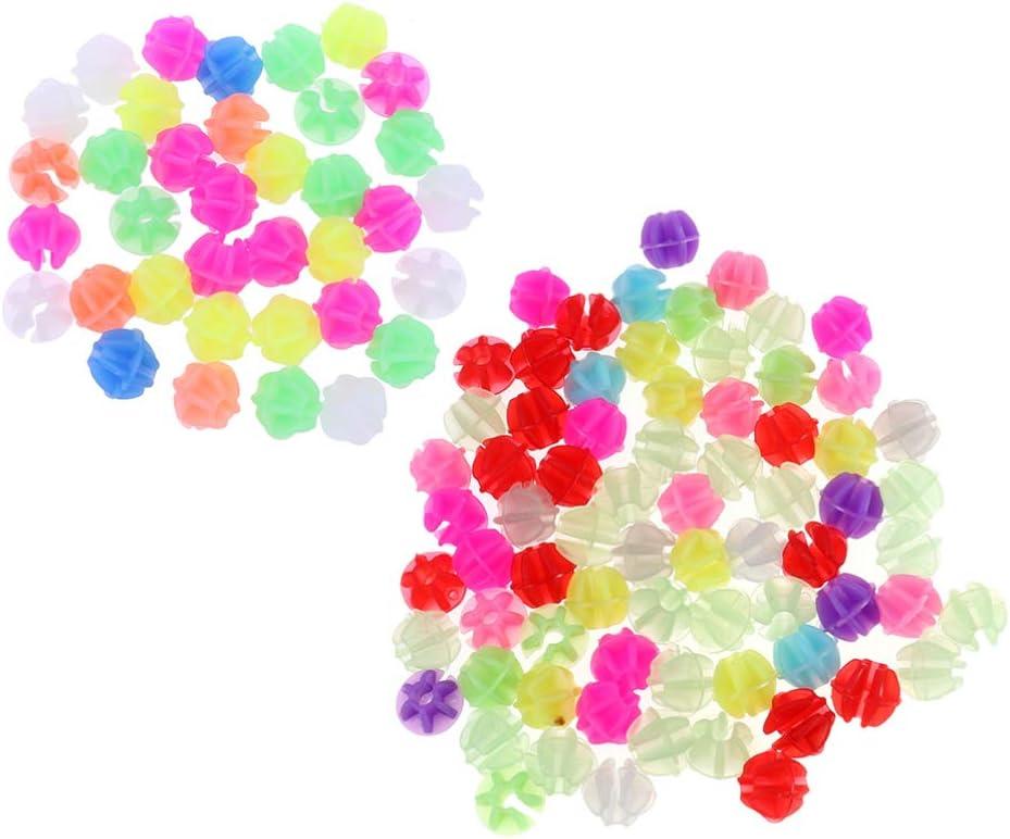 72 Stück Ansteckbare farbige Stern Perlen Kinder Fahrrad Rad Speichen