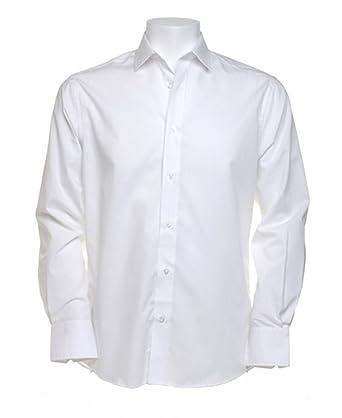 Kustom Kit Men/'s Tailored Fit Long Sleeve Business Shirt  Formal Wear KK131