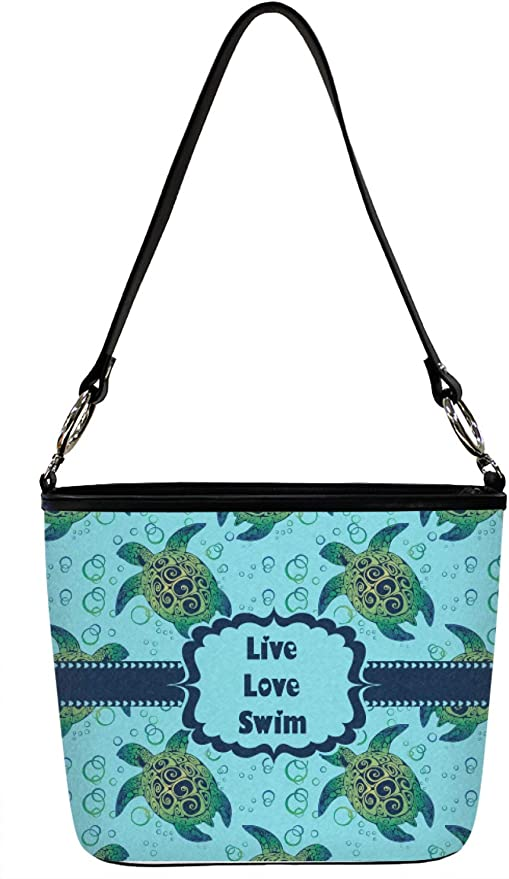 Front Sea Turtles Hobo Purse w//Genuine Leather Trim Personalized