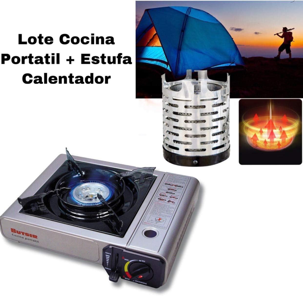 Envio 24h Lote Butsir Cocina MS-1000 + Butsir Calentador Estufa para Cocina Portatil para Camping al Aire Libre, Viajes, Camping, Pesca, Tienda de campaña de calefacción, Herramienta