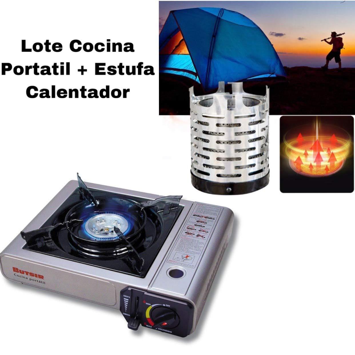 Envio 24h Lote Butsir Cocina MS-1000 + Butsir Calentador Estufa para Cocina Portatil para Camping al Aire Libre, Viajes, Camping, Pesca, Tienda de campaña ...