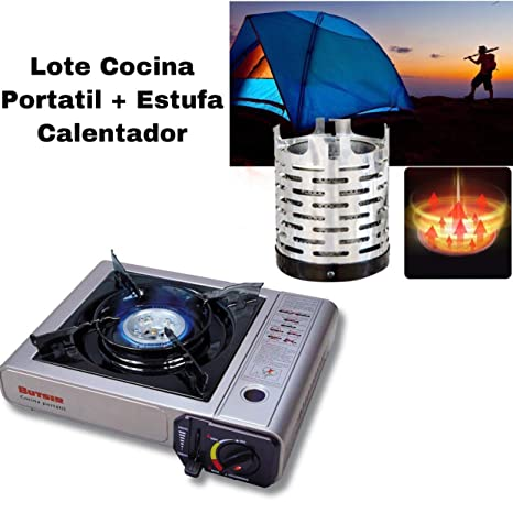 Envio 24h Lote Butsir Cocina MS-1000 + Butsir Calentador Estufa para Cocina Portatil para Camping al Aire Libre, Viajes, Camping, Pesca, Tienda de ...