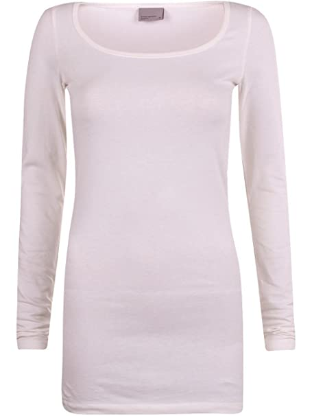 e8ca2fcac5e1ca Vero Moda Damen Langarm Shirt MAXI MY LS LONG U-NECK