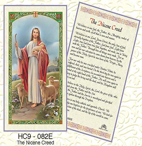 Nicene Creed Laminated Prayer Cards - Pack of 25 - HC9-082E