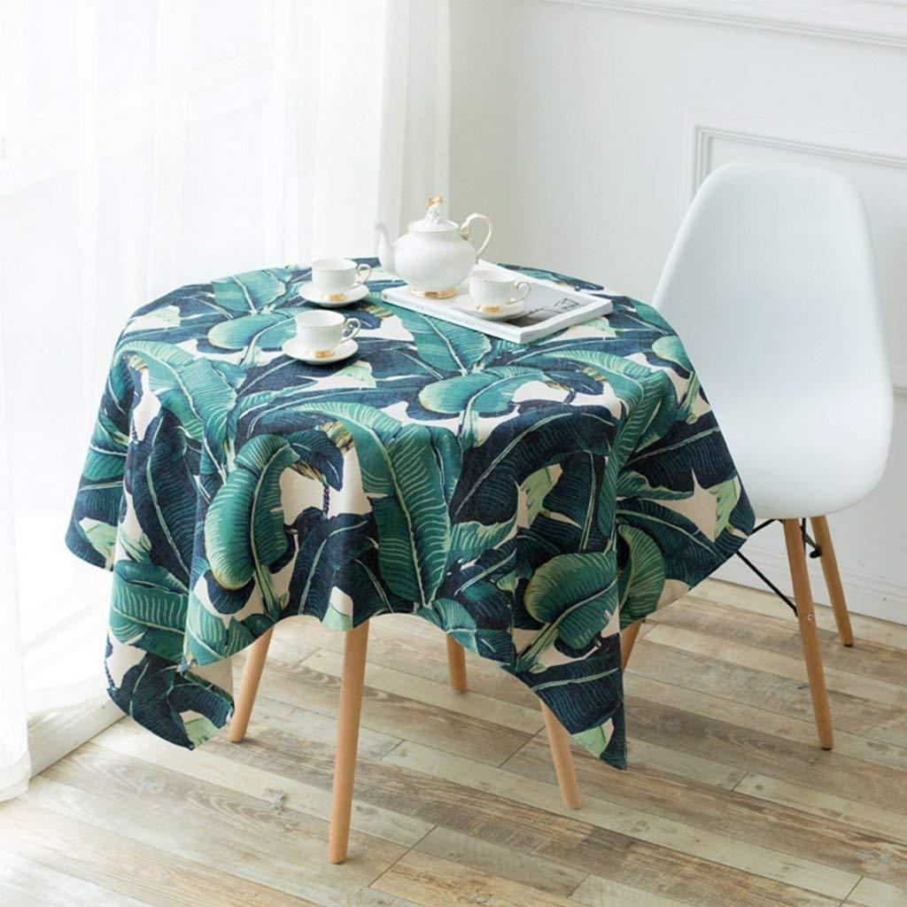 テーブルクロスマット ホームグリーン花柄テーブルクロスソフトモダンシンプルファッション高級リビングルームキッチンレストランホテル ホームデコレーション   B07QLW596D