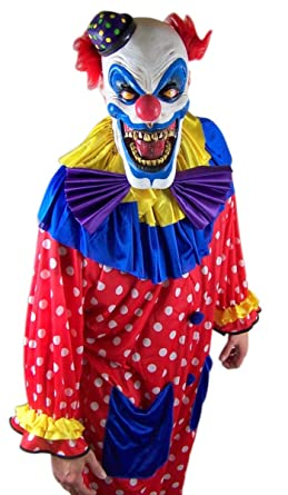 scary clown halloween costume with evil chompo the clown mask