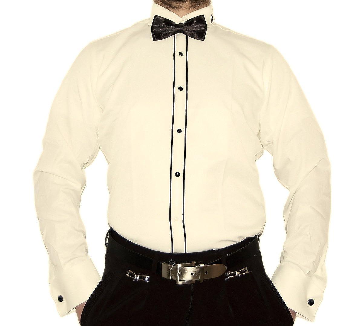 Herren Designer Smoking Smoking Smoking Hemd Kläppchenkragen Tailliert Fliege Slim Fit Manschettenknöpfe S16 Langarm B01N4RL57A Business Einfaches Leben 09b9e0