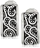 Napier''Napier Classics'' Silver-Tone Paisley Textured Clip Earrings
