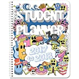 """BookFactory 2017-2018 Doodle Student Planner / Agenda / Organizer / Calendar (132 Pages) - 8.5"""" X 11"""" Wire-O (CAL-132-7CW-A(Doodle-Planner17-18))"""
