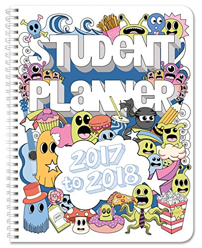 "BookFactory 2017-2018 Doodle Student Planner / Agenda / Organizer / Calendar (132 Pages) - 8.5"" X 11"" Wire-O (CAL-132-7CW-A(Doodle-Planner17-18))"