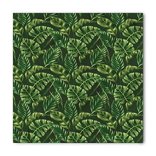 Lunarable Unisex Bandana, Hunter Green Exotic Plants Zen, Fern Green
