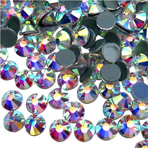 Jollin Hotfix Crystal AB Flatback Rhinestones 8.4mm SS40(144pcs)