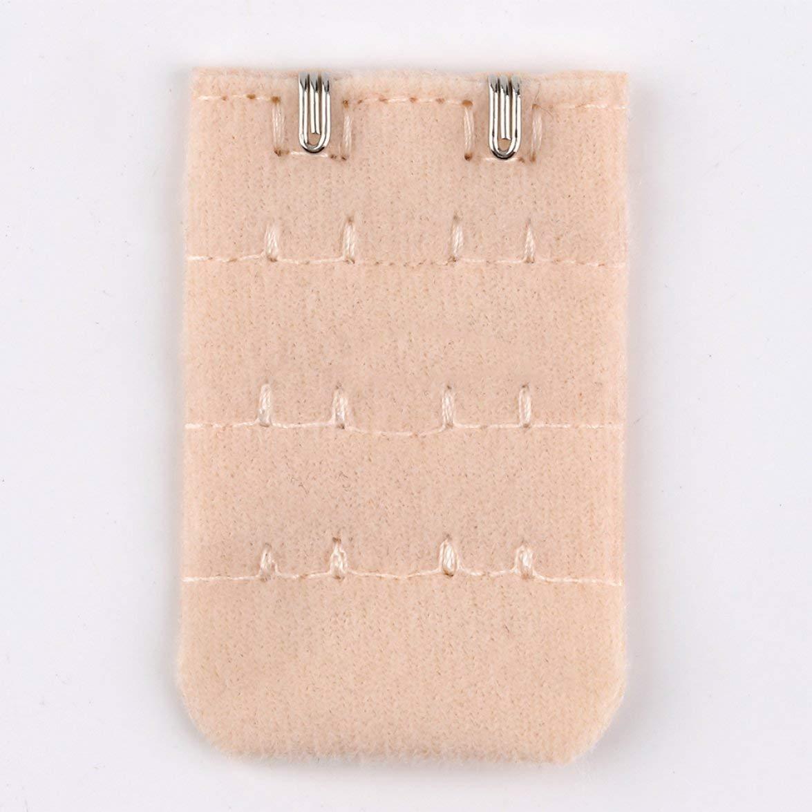 Kongqiabona Femmes Sangle De Soutien-Gorge Allong/é Boucle Alliage Boucle 2 Crochets 3 Rang/ées Extension Clip Fermoir Boucle Extension Intime Accessoires