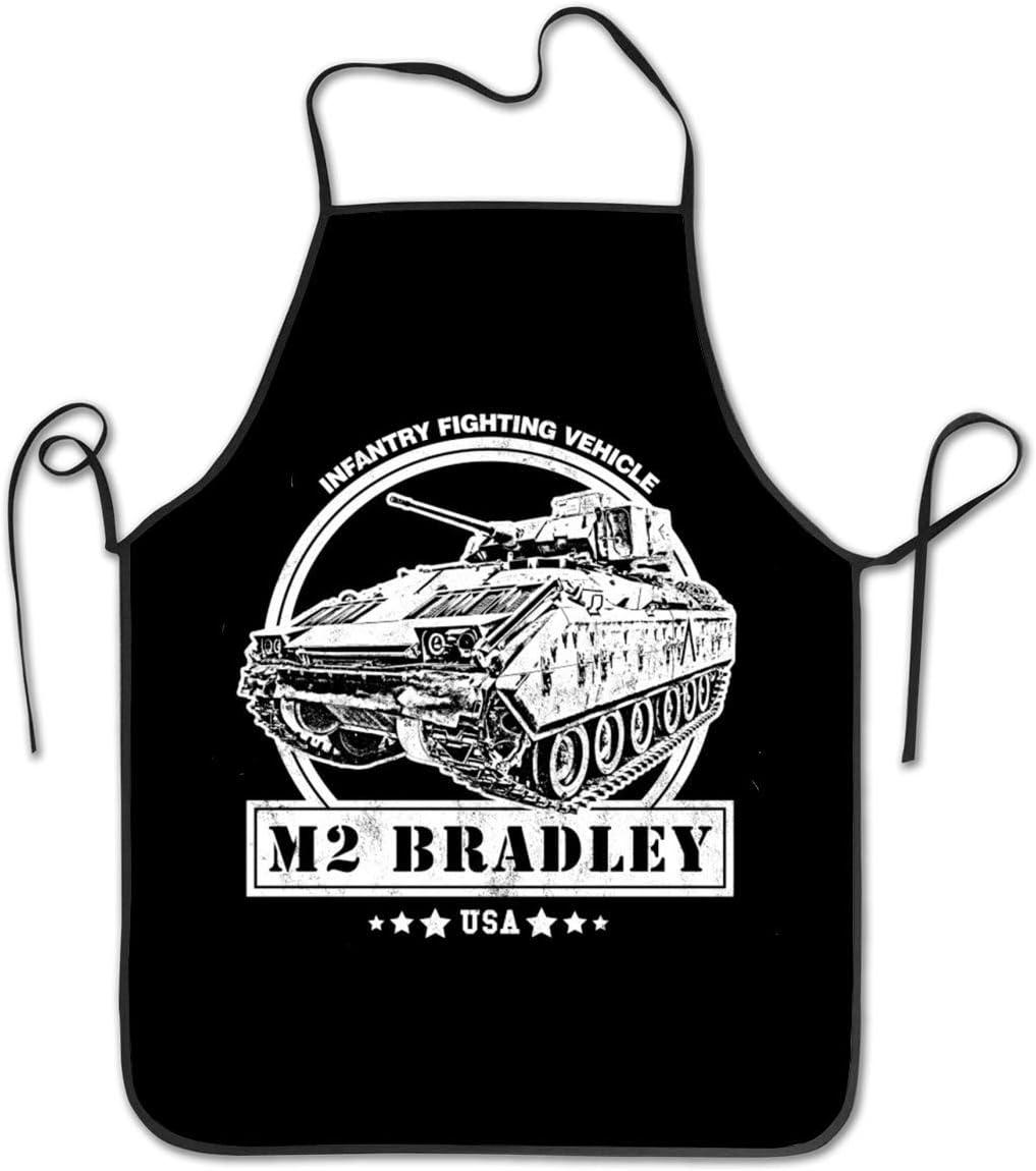 ujmki Delantales de Cocina Unisex Delantal de Chef M2 Bradley IFV Delantal de Cocina Delantales de Barbacoa