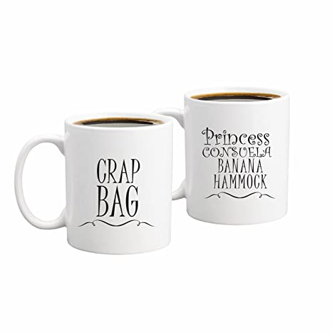 Princess Consuela Banana Hammock U0026 Crap Bag Couples Funny Coffee Mug Set  11oz   Friends TV