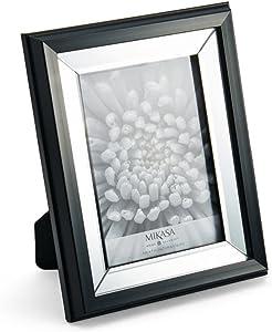 MIKASA Black Edge Mirror Frame, 5x7-Inch