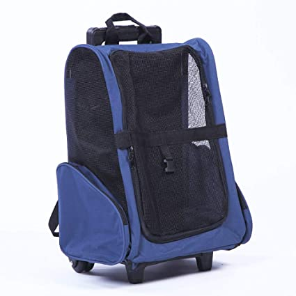 Amazon Com Jmw Navy Blue Color Pet Carrier Backpack Dog Cat