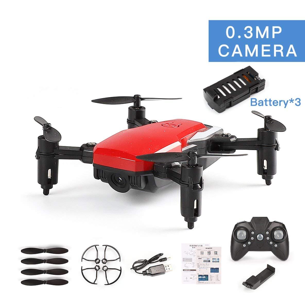 Moliies LF606 3 baterías Drone con 0.3MP Cámara FPV Quadcopter Drones Plegables RC