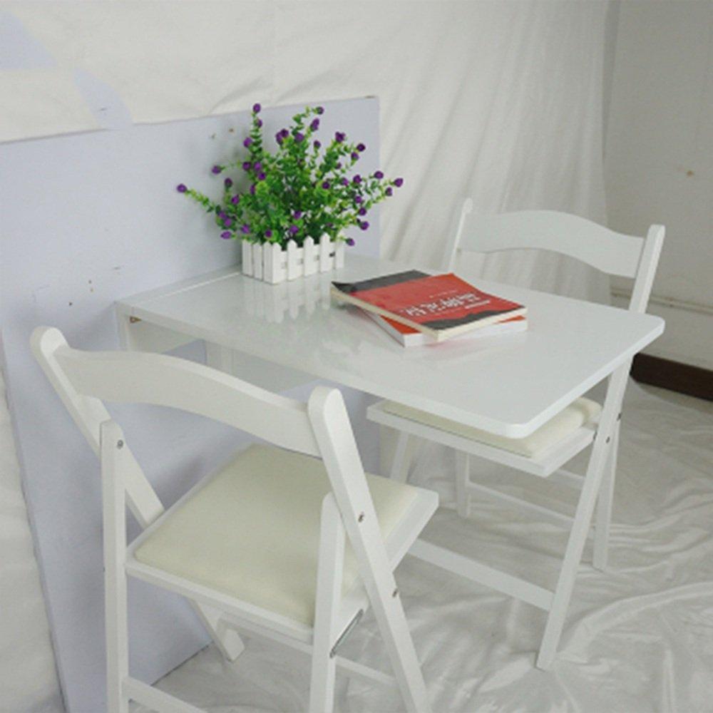 LJHA Table pliante Table à manger en bois massif Table murale Table à rallonge Bureau d'ordinateur 2 couleurs disponibles